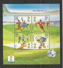 INDIA 2014 FIFA WORLD CUP MINISHEET  UM/M NH LOT 2906A