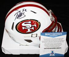 Patrick Willis signed Flat White Mini Helmet, 49ers, Ole Miss, Beckett BAS