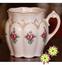 2 CZECHOSLOVAKIAN  ORIGINAL CARLSBAD PINK PORCELAIN TEA CUPS**