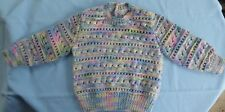 BABY HAND KNITTED JUMPER, MULTI COLOURED SUIT 6 TO 9 MONTH OLD (24)