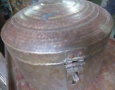 19th Cen.Pot HAMMERED BRASS STORAGE India Dowery Box India Chappati Dabba