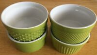 BIA Cordon Bleu 6 Ounce Stoneware Ramekin, Set Of 4 Assorted Texture - Green HTF