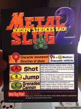 Metal Slug 2 Neo Geo Arcade Marquee