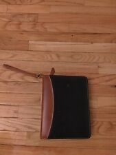 Franklin Quest Vintage Black Brown Leather 15 Inch Ring Classic Planner