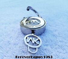 Michael Kors Silver MK Hamilton Replacement Lock Key Bag Handbag New Charm Purse