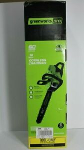 Greenworks Pro 60v Chainsaw 16 inch CS60L00 TOOL ONLY