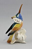 9941175 Porzellan Figur Kolibri auf Blume Ens Thüringen H17,5cm