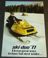 "1977 SKI-DOO RV FULL LINE SNOWMOBILE SALES BROCHURE 6"" x 9"" 4 PAGES (015)"