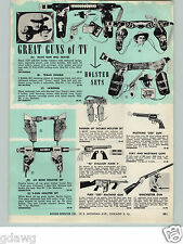 1960 PAPER AD Ideal Toy Dump Tow Truck Fury 500 Machine Gun Pistol Holster