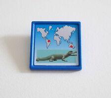 PLAYMOBIL (O2234) ZOO - Panneau Bleu Affiche Information Bassin des Caïmans 4463