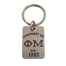 Phi Mu Property of Metal Keychain