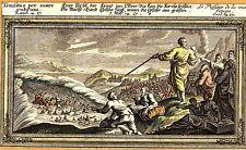 Grafik,Kupferstich,die Durchquerung des roten Meeres,um 1800