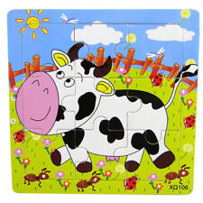 1PC Baby Toys 3D Wooden Puzzle Cartoon Learning Educational Kids Toy cow