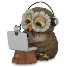 Funny Gufi - Skype Eule mit Laptop und Kopfhörer