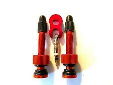 MT ZOOM ORANGE 50mm Ultralight Tubeless Presta Valves +FREE spare core & remover