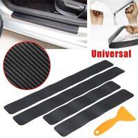 4Pcs Anti Scratch Sill Scuff Cover Car Door Plate Sticker 3D Carbon Fiber