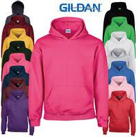 Gildan Children's Heavy Blend Hooded Pullover Sweatshirt Plain Warm Hoodie New