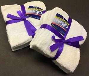 "72 -Piece / 6 Dozens 100%  Cotton Washcloth Face Towels Size 11"" X 11"" in White"