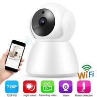 Wireless WIFI 720P HD Audio Intercom Baby Monitor IP Security Camera Night View