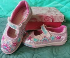 Lelli Kelly Brillo Rosa Tiara Corona Dolly Zapatos Bombas De Chica 28EU/10UK Decoración de Mano