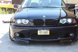 BMW 3 Series E46 M Sport M Tech Front Flaps Splitters Schwarz