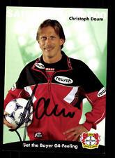 Christoph Daum Autogrammkarte Bayer Leverkusen 1999-00 Original + A 157355
