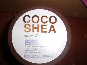 New- Bath & Body Works COCO SHEA COCONUT Whipped Body Butter