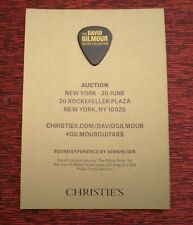 """David Gilmour """"Chrisitie's """" Guitar Collecton Preview Postcard and Pick"""