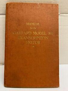 Garrard 301 Original Instruction Manual