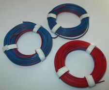 (1m = €) Twin Braid Wire 3 X 5m Red/Blue New