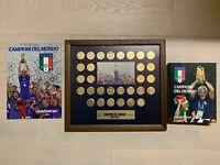 GAZZETTA DELLO SPORT.SET COMPLETO MEDAGLIE ITALIA CAMPIONE DEL MONDO 2006.QUADRO