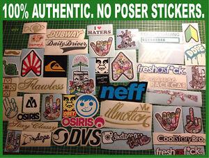27 Random  JDM, Skate / Skateboard, Snowboard, Surf Stickers / Decals Pack / Lot