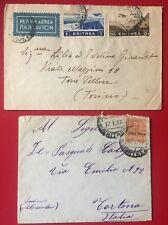 lotto storia postale militare colonie Eritrea