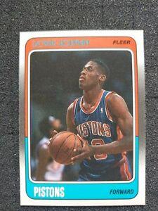 1988 Fleer Basketball Dennis Rodman #43 ROOKIE NM-MT 2
