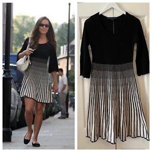 French Connection Black & White Dress UK 10 Kate Middleton Duchess of Cambridge