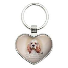 American Cocker Spaniel Dog Breed Heart Love Metal Keychain Key Chain Ring