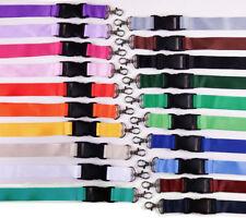 100 unbedruckte Schlüsselbänder 25mm / Lanyards - 20 Farben - freie Farbwahl -