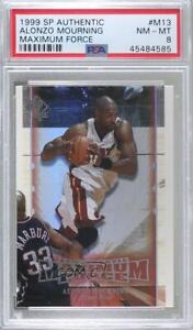 1999-00 SP Authentic Maximum Force Alonzo Mourning #M13 PSA 8 HOF
