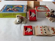 Alte Hunde Fox Terrier Konvolut;Schnapp die Wurst Spiel,Kartespiel.Foxls 30-50ig