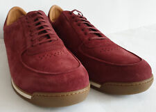 John Lobb Porth - Burgundy/Wine Suede Trainer/Sneaker - Size 9 UK - New