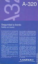 Safety Card - Lan Peru - Airbus A 320 - 2002 (S1969)
