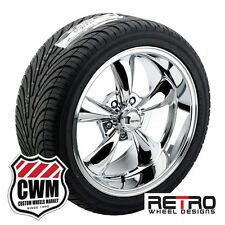 17 inch Staggered 17x8 17x9 Chrome Wheels Rims Tires for Chevy Chevelle 66-72