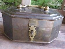 BRASS CASKET BOX  Large Vintage Cast Metal Betel Nut Pandan India Asian Jewelry