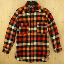 RARE vtg 40s / 50's era WOOLRICH thick wool shirt size 15 / S - M buffalo plaid