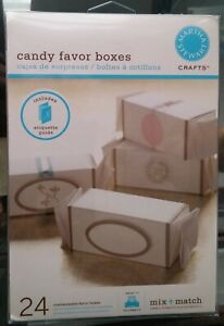 Martha Stewart Candy Favor Boxes * NEW in pkg set of 24 * Wedding Party Birthday