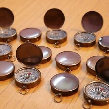 Set of 500 Brass Lid Compass Nautical Vintage Christian Sign