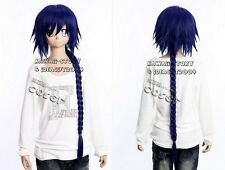 W-408 Magi: the labyrinthe of Magic Aladdin Bleu Blue 95cm cosplay perruque wig