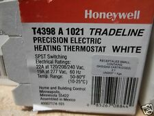 Honeywell T4398A1021 Thermostat,Spst Switch White 22A /120-208-240 & 19A On 277V