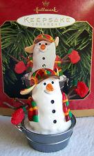 Hallmark Keepsake Christmas Ornament Playful Snowman in a Tub 1999