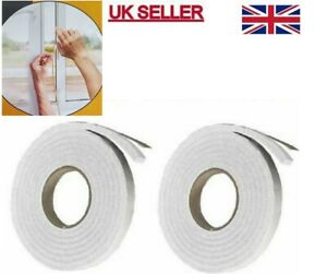 1/2 X Foam Draught Excluder Tape Draft Weather Seal Strip Insulation Door Window